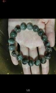 🚚 11mm綠幽靈手珠