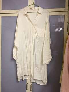 米白襯衫外套