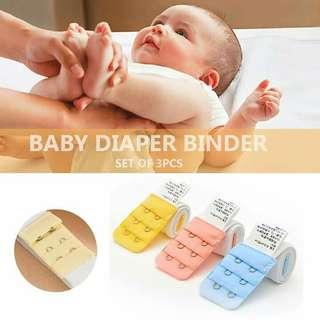 Baby Rubberized Diaper Binder Free Size set of 3 PCS