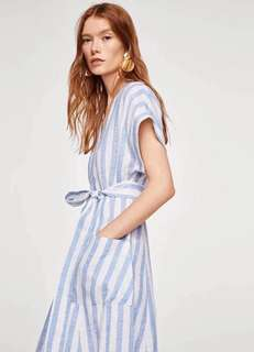 🚚 OshareGirl 04 西班牙女士經典條紋連身洋裝連身裙