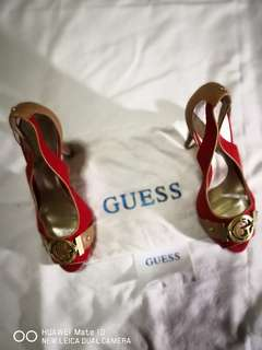 """RED Guess Open-Toe Heels 3 and 1/2"""""""