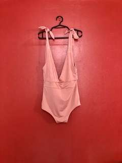Ribbon Strap Pink Monokini