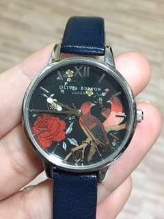 OLIVIA BURTON LONDON 女款手錶 玫瑰/鳥