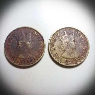 1961年英女皇頭香港大一毫硬幣 HK Ten Cents Cojn