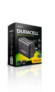Duracell Worldwide Dual USB Travel Charger DR6001A