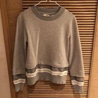 Initial grey sweater