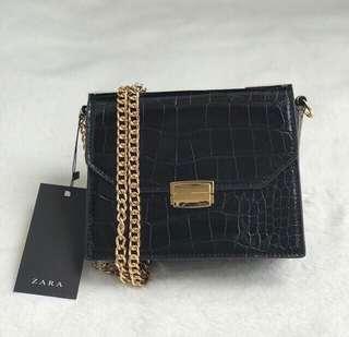 Zara mock croco black