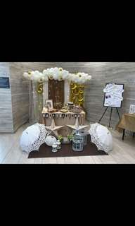Taking orders for decoration parties events table setup backdrop balloon arch n columns pls pm me