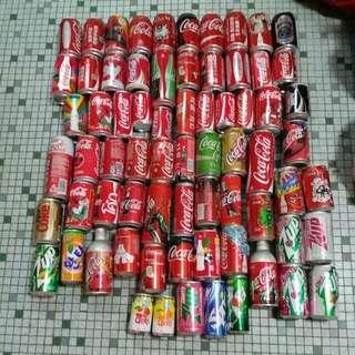 Coca Cola 可口可樂 - 汽水罐共70 個