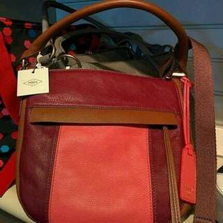 Fossil Mollly Hobo Leather Bag For Sale