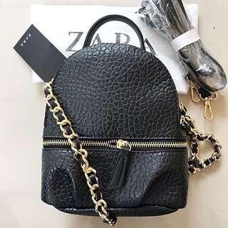 Zara backpack croco ori import