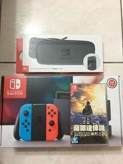 Switch 台灣公司貨 紅藍色+薩爾達傳說