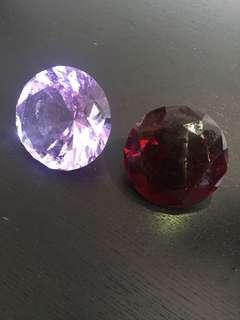 紫红钻石水晶