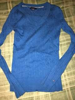 Long sleeve blue Tommy Hilfiger shirt