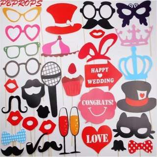 Photobooth Props for Wedding, Bridal Showers
