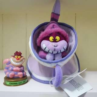 早期美國絕版愛麗絲妙妙貓笑笑貓杯子玩偶,全新有吊牌!