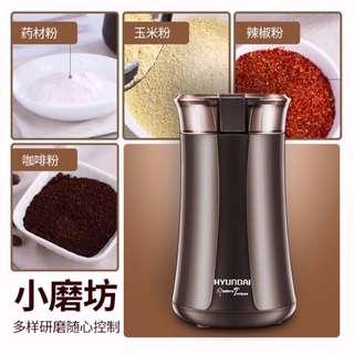 $118 - 韓國現代 電動磨粉機 絞肉機 研磨機 磨粉機 磨豆機 攪拌機 榨汁機 Electronic Grinder
