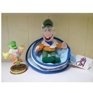 早期美國絕版愛麗絲瘋帽杯子玩偶,全新有吊牌!