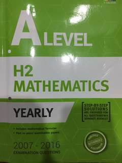 ALevel H2 Math TYS 2007-2016 Yearly
