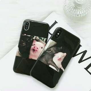 🚚 Iphone 可愛小豬手機軟殼