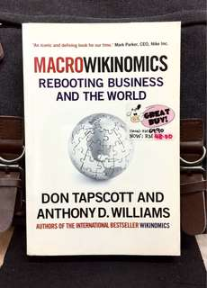 《Preloved Paperback + How Mass Collaboration Is Revolutionizing The Way We Live, Work, And Create》Don Tapscott & Anthony D. Williams - MACROWIKINOMICS :Rebooting Business And The World