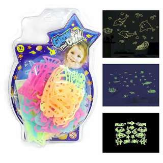 """Glow in the dark """"under the sea"""" 2 for 199"""