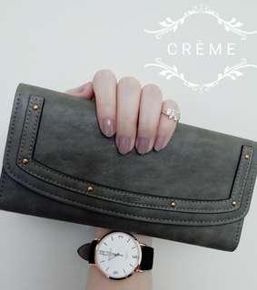 銀包 wallet (墨綠色 Grace)