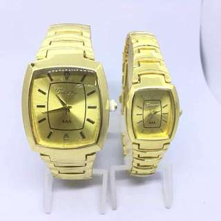 GENEVA Gold Watch with Gold Strap