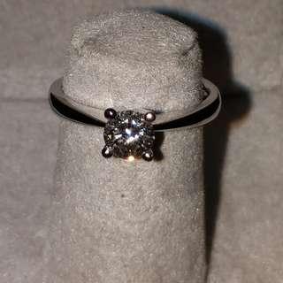 43份 單颗 4爪 礸石戒指