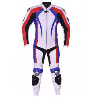 One piece motorbike Leather Racing Suit