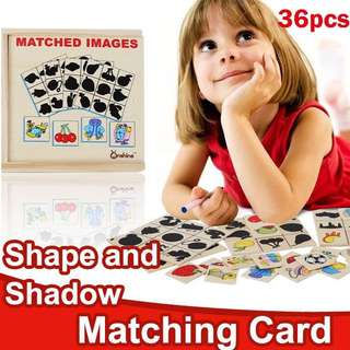 🍭 SHAPE AND SHADOW MATCHING CARD