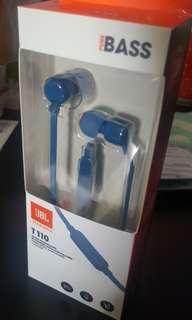 JBL T110 Headphones - Blue (Brand New)
