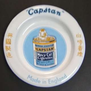 Vintage Capstan Navy Cut Ashtray Porcelain Enamel