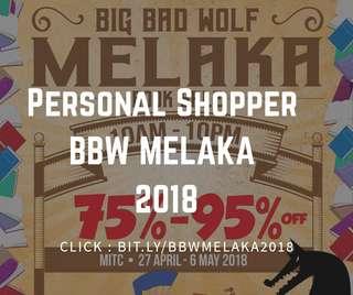 Personal shopper BBW 2018 Melaka