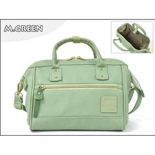 💯 [AT-H1021] NEW CANDY COLOURS!! 2018 New Arrival!! Anello Pu Leather 2 Way Mini Boston Bag-MINT GREEN