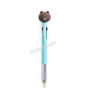 🇰🇷(包郵現貨) Line Friends Brown 3-color Pen 熊大三色筆
