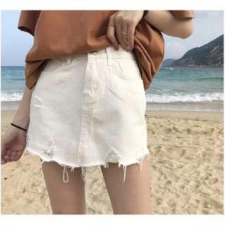 4.25韓 牛仔褲裙(預購)