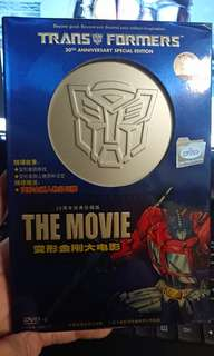 Transformer 20th Anniversary Special Limited Edition DVD with poker cards.