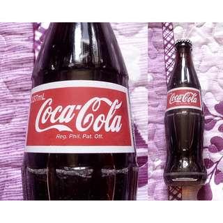 可口可樂95年菲律賓237毫升紅標銀蓋玻璃樽