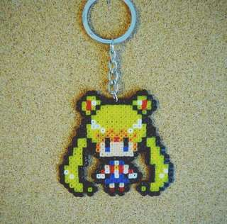Sailormoon Keychain/hp strap hama bead designs
