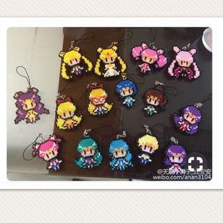 Sailor Moon Keychain/hp strap Hama Designs