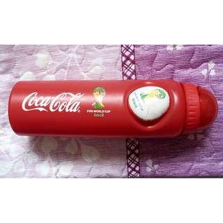 可口可樂14年巴西世界杯版塑膠水樽一枝