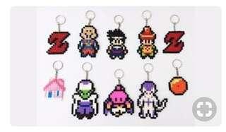 Dragon Ballz Hama Designs Keychain