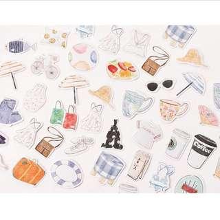 40pcs stickers girls necessities