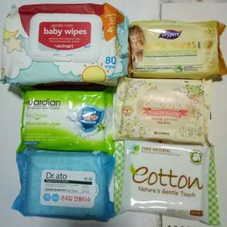BN Baby Wipes Various type/pkts