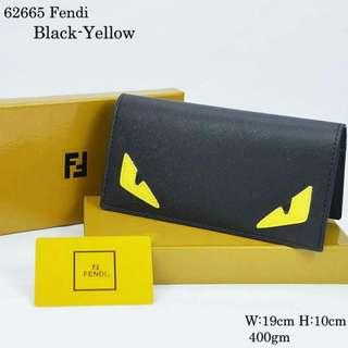 Fendi Long Wallet Black~Yellow