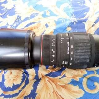 Sigma 70 - 300mm canon lens