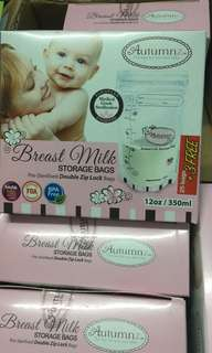(25 + 3 free) BN Sealed Autumnz Breast Milk Storage Bag 12oz 28pcs