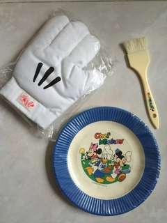 隔熱手套 卡通紙碟 煮食油掃