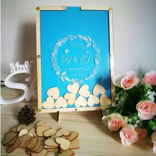 Personalised Drop Frame Guestbook for Wedding/Baby Shower/Birthday Parties Event